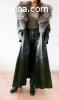 Manteau cuir long neuf